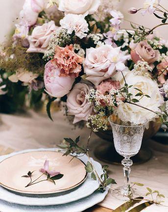 Blush Pink Botanicals Rebecca Goddard Photography