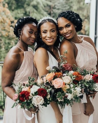 黑人新娘的发型
