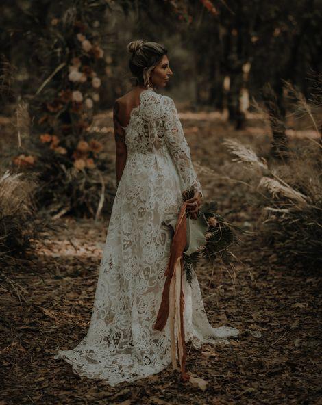 One Shoulder Wedding Dress 1