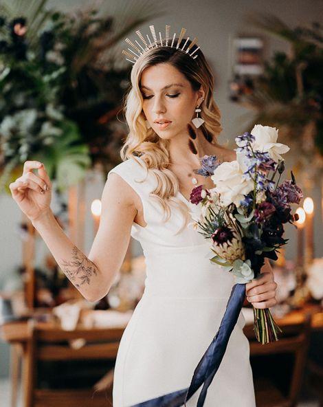 Moody Dark Wedding Flowers 1