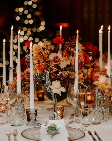 Chritmas church wedding flowers