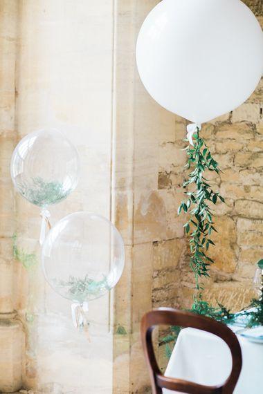 Giant White Balloons For Wedding Reception
