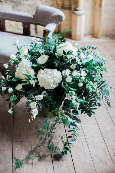 White Floral Bouquet With Foliage