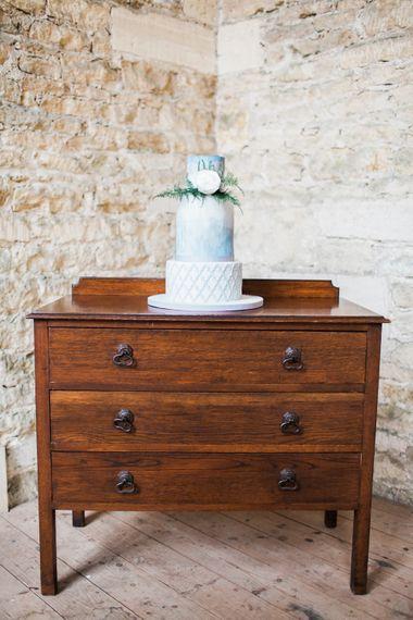 Wedding Cake On Vintage Dresser