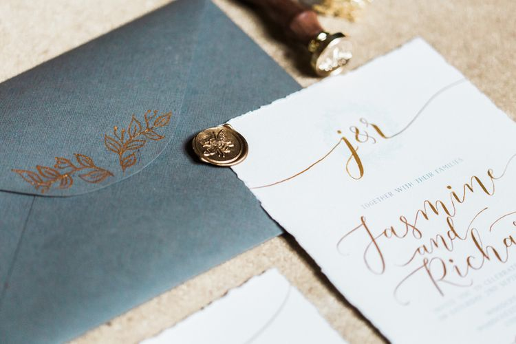 Grey & Gold Stationery Suite