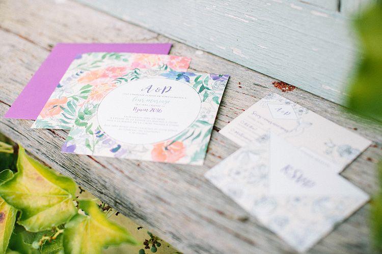 Pastel Coloured Wedding Stationery