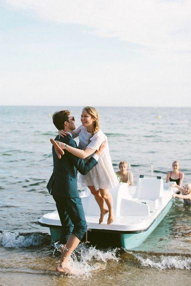Bride & Groom Beach Portrait