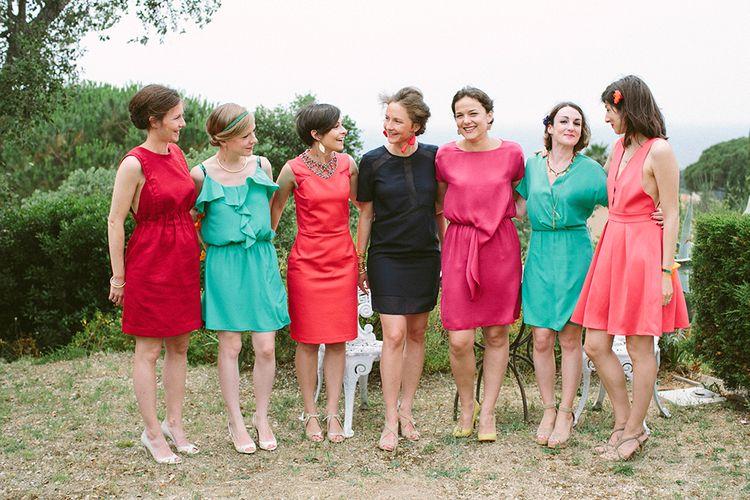 Ladies in Bright Dresses