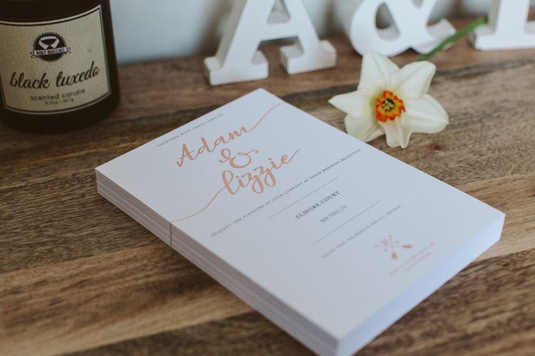 Rose Gold Wedding Invites