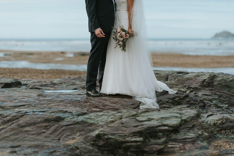 Bride & Groom Portraits at the Beach