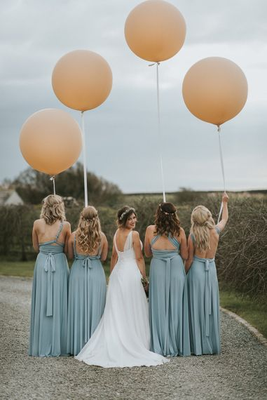 Baby Blue Multiway Bridesmaids Dresses