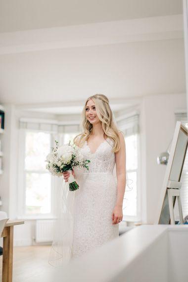 Bride in Maggie Sottero Pierce Wedding Dress