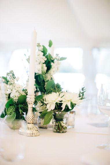 Elegant Silver & White Flower Wedding Decor