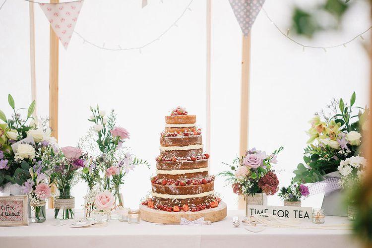 Homemade Wedding Cake Table