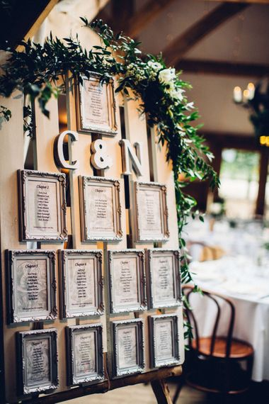 Table Plan made from Wooden Palettes & Photo Frames