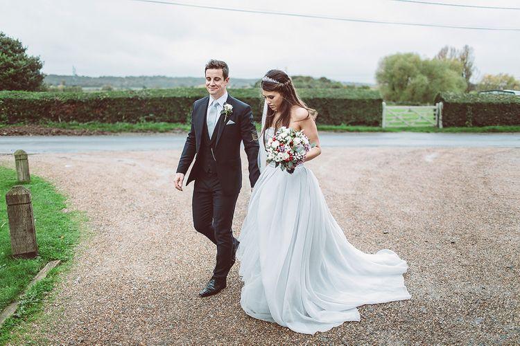 Vera Wang at David's Bridal Grey Wedding Dress
