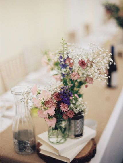 Wild Flowers in Tin Cans