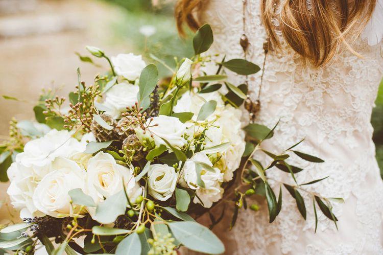 White & Greenery Bouquet