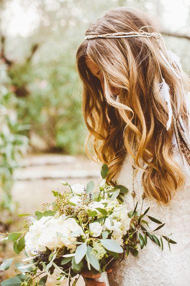 Boho Bridal Down Hair Do