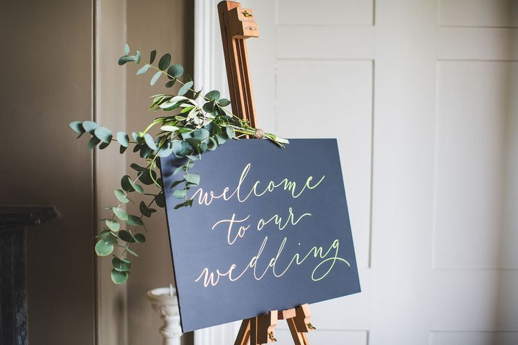 Calligraphy for Weddings Welcome Sign