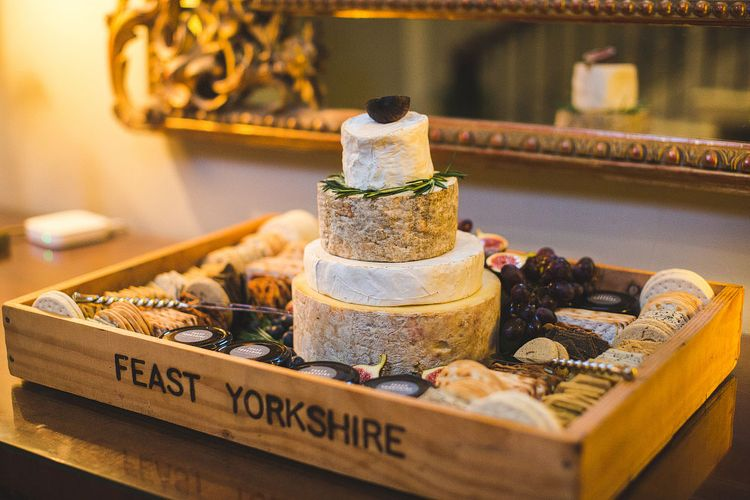 Cheese Tower Wedding Cake by Feast Yorkshire Catering