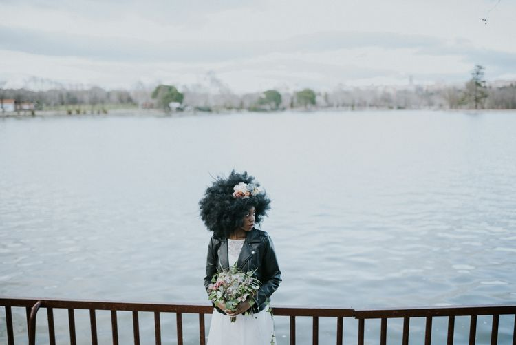 Stylish Bride by the River