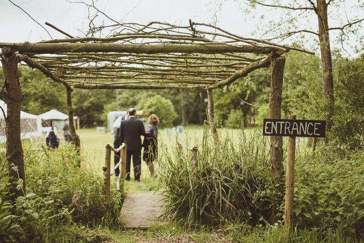 Woodland Ceremony Entrance