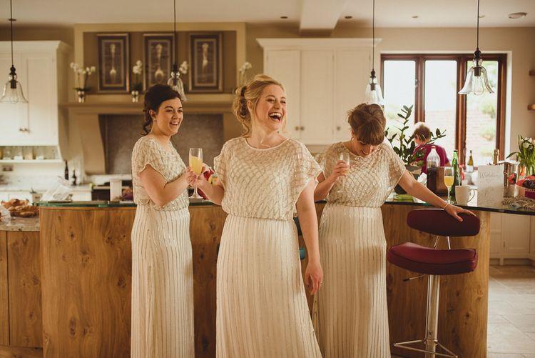 Coast Beaded White Bridesmaid Dresses
