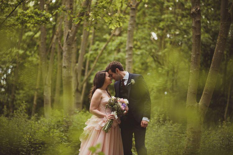 Bride & Groom Woodland Portrait