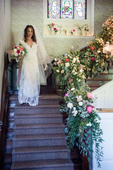 Bride in Lace Inbal Dror Wedding Dress
