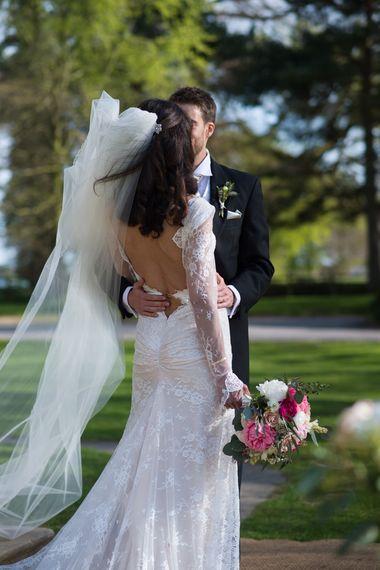 Low Back Lace Inbal Dror Wedding Dress
