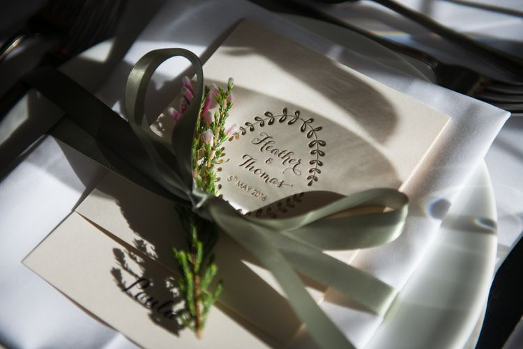 Gold Foil Wedding Stationery