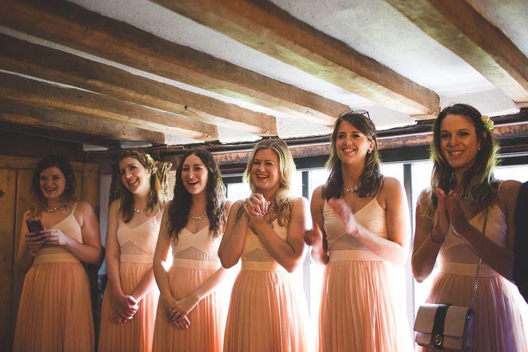 Peach ASOS Bridesmaid Dresses