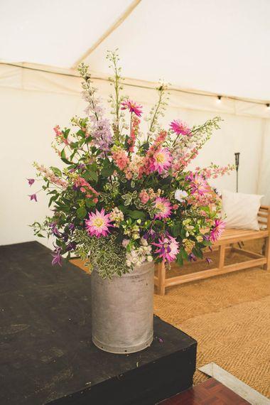 Milk Churn Wedding Flowers