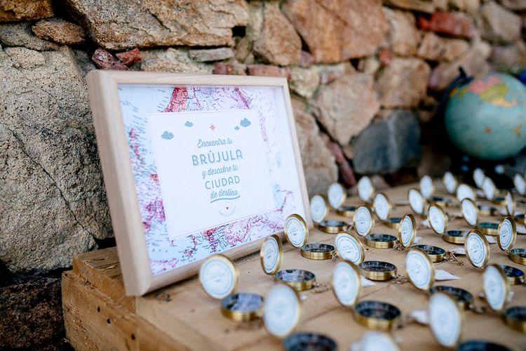 Compass Wedding Favours