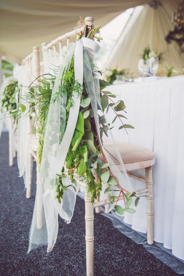 Botanical Green & Copper Wedding Decor