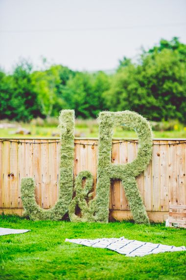 Giant Initial Letters Wedding Decor