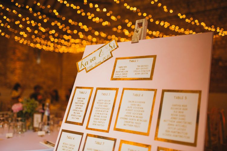 Pink and Gold Table Plan