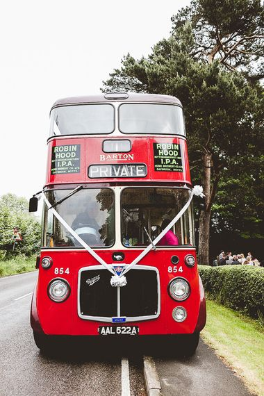 Red Bus Wedding Transport