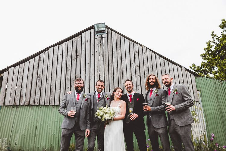 Bride & Groomsmen Portrait