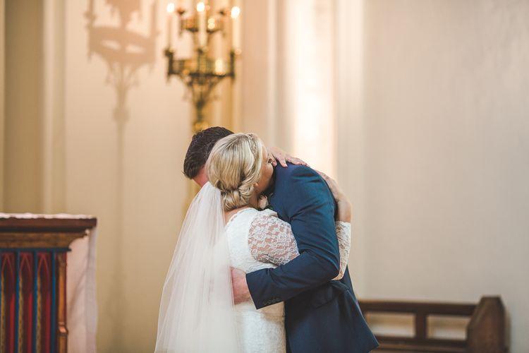 Bride & Groom Embrace