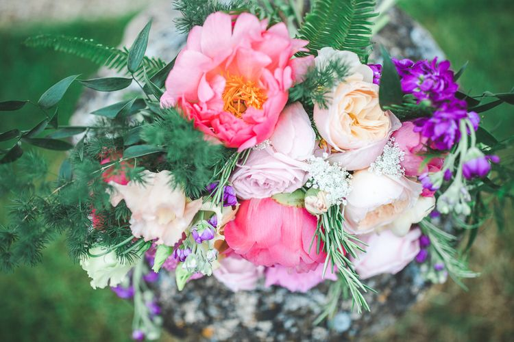 Pink Peony & David Austin Roses