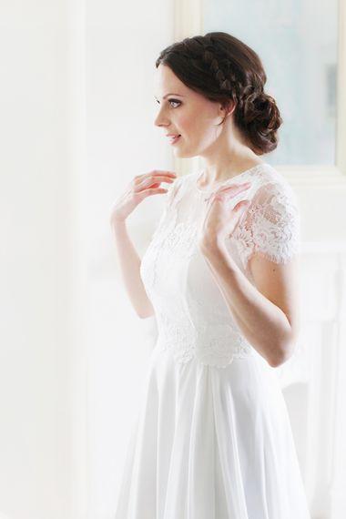 Bride in Jesús Peiró Wedding Dress
