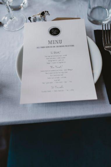 Stylish Printed Wedding Menu