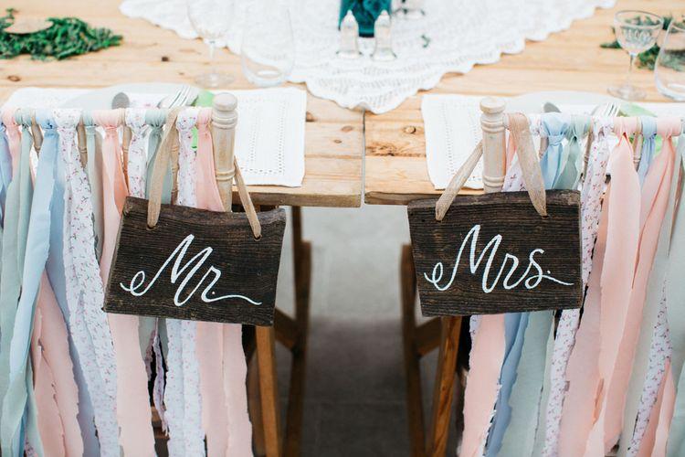Mr & Mrs Chalkboard Signs