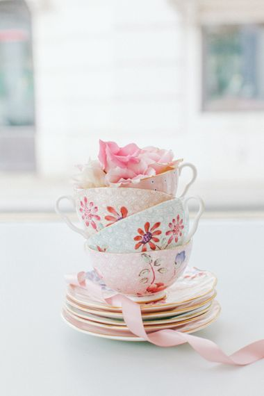 Bone China Tea Cups & Saucers From The Wedding Shop