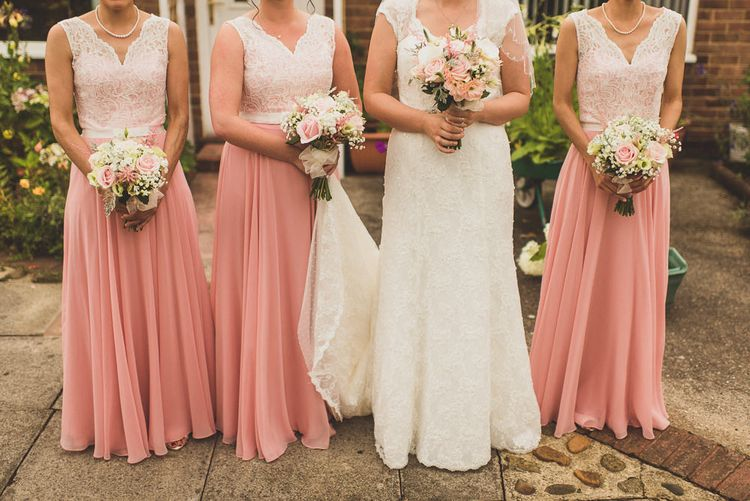 Bridesmaids in Dessy After Six Bridesmaid Dresses