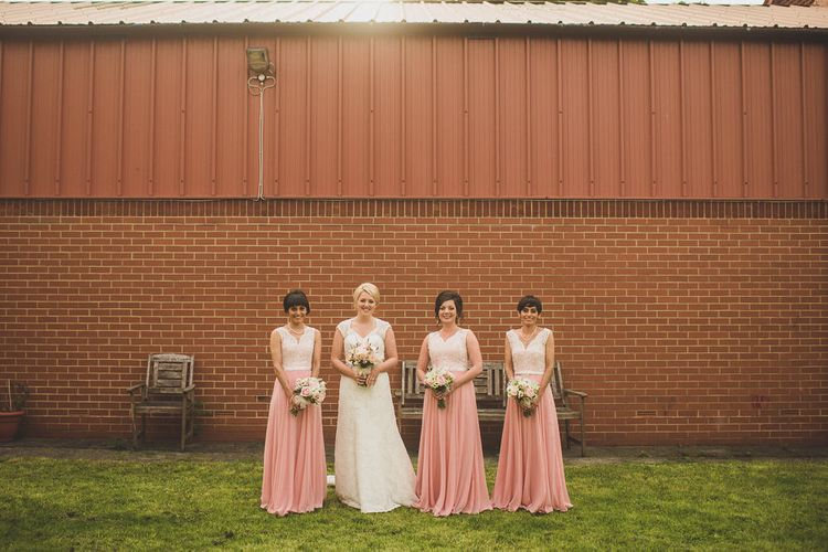 Bridesmaids in Dessy After Six Dresses