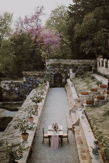 Italian Wedding Inspiration At A Neoclassical Villa With A Pale Pink & Marsala Colour Palette Images By Andrea Calvano