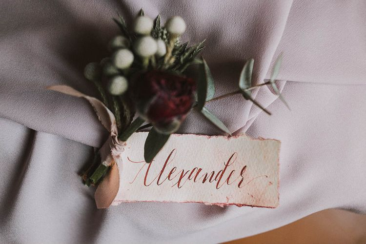 Hand Written Place Names For Wedding